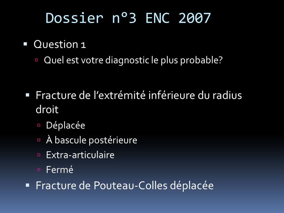Dossier n°3 ENC 2007 Question 1