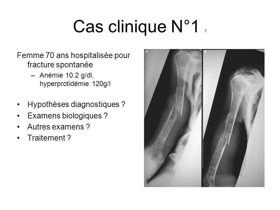 Cas clinique N°1 1 Femme 70 ans hospitalisée pour fracture spontanée