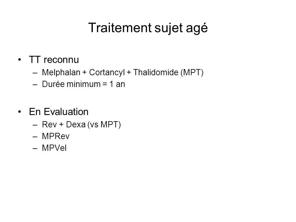 Traitement sujet agé TT reconnu En Evaluation