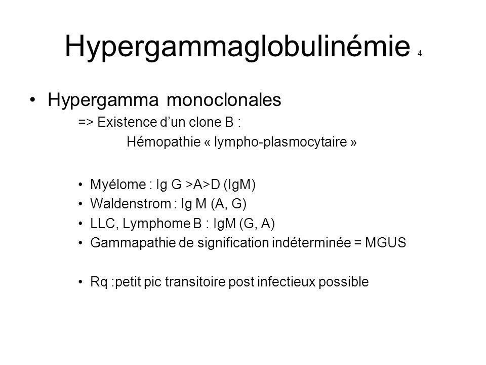 Hypergammaglobulinémie 4