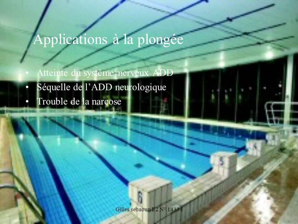 Applications à la plongée