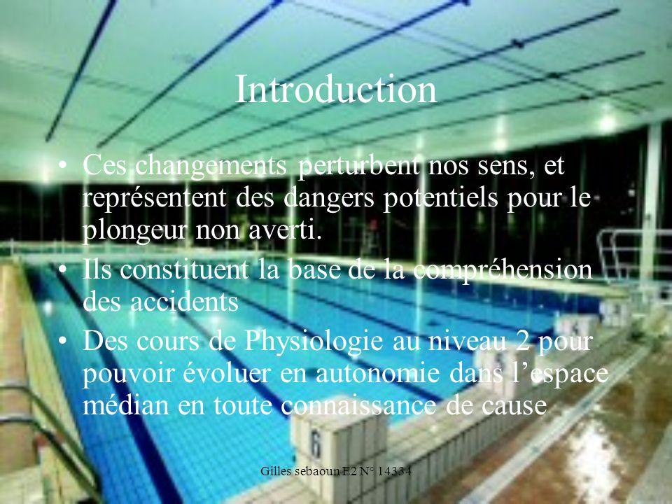 IntroductionCes changements perturbent nos sens, et représentent des dangers potentiels pour le plongeur non averti.