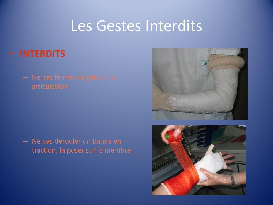 Les Gestes Interdits INTERDITS