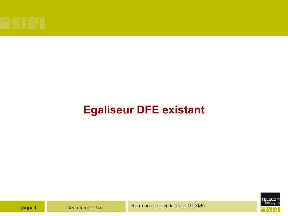 Egaliseur DFE existant