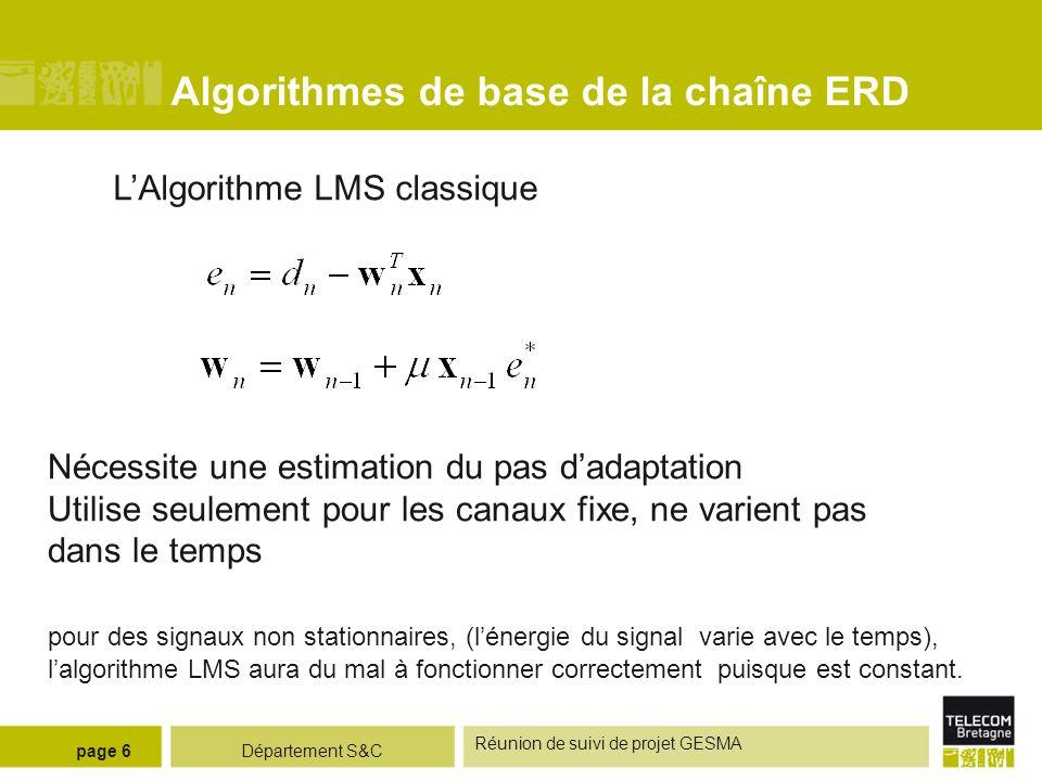 Algorithmes de base de la chaîne ERD