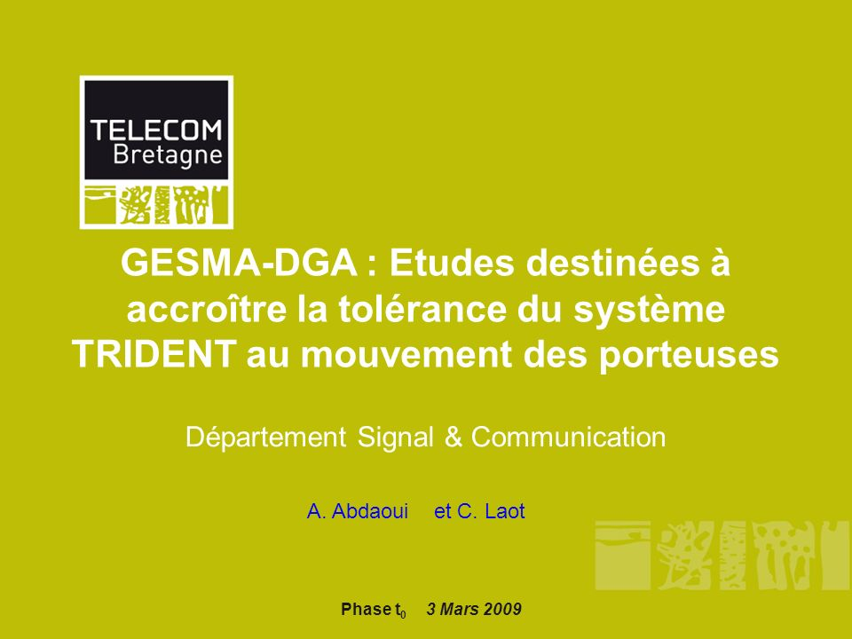 Département Signal & Communication