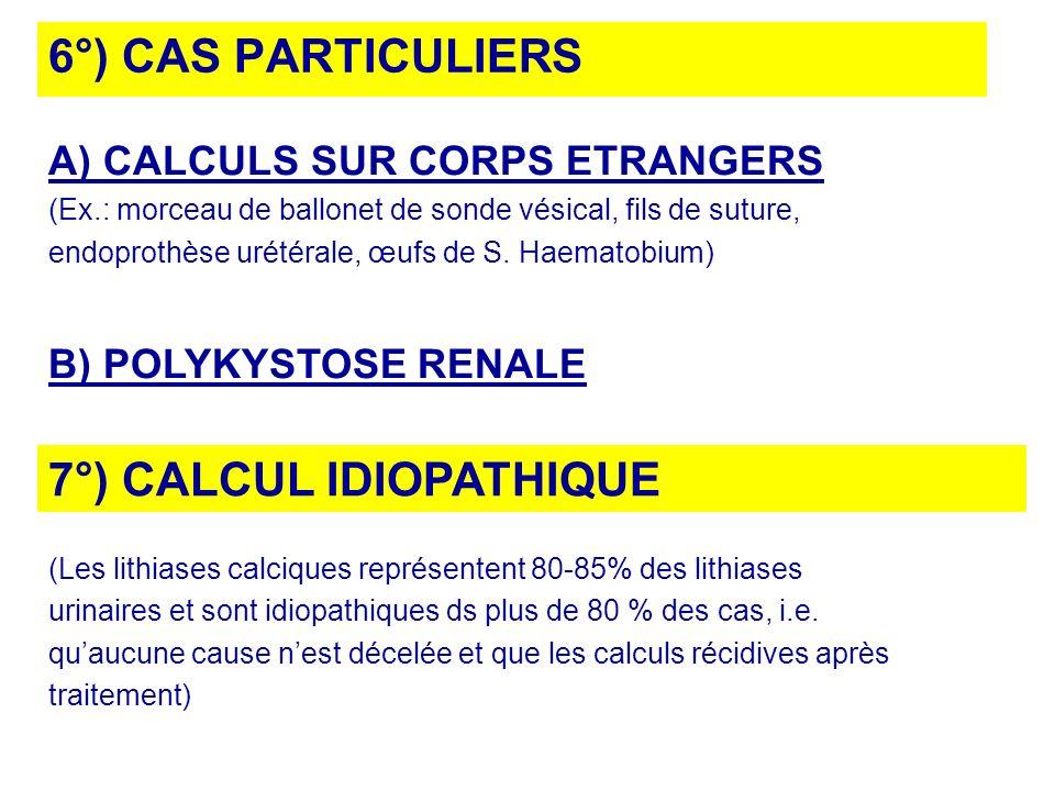 7°) CALCUL IDIOPATHIQUE