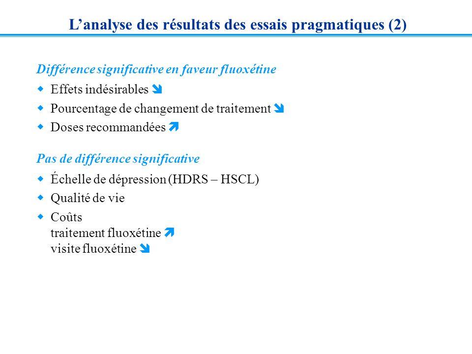 L'analyse des résultats des essais pragmatiques (2)