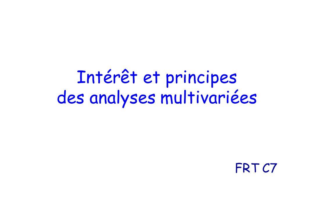 Intérêt et principes des analyses multivariées