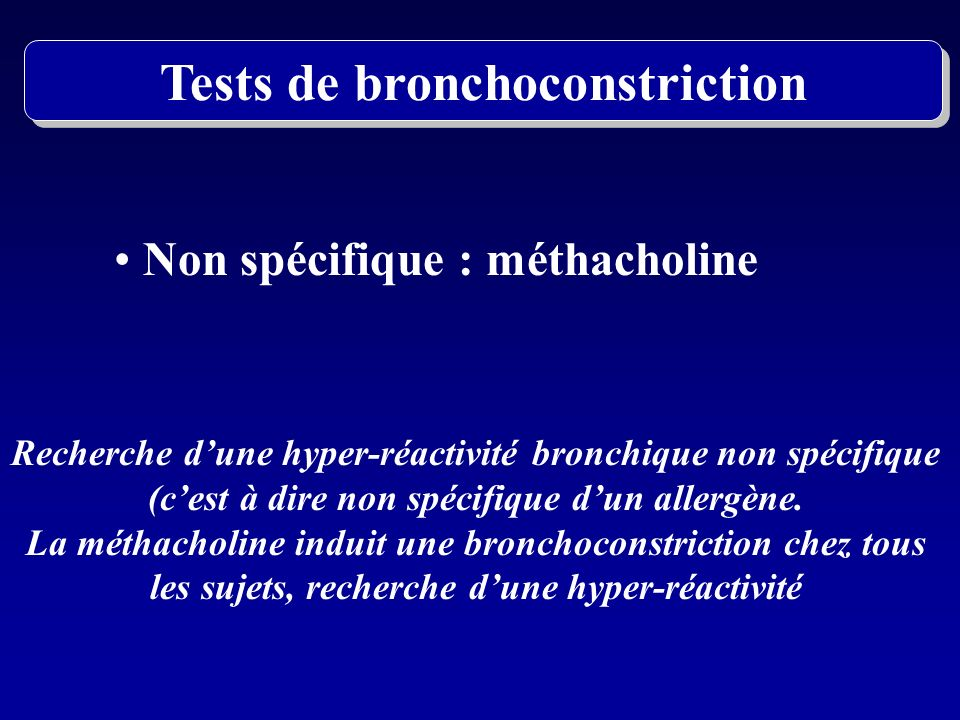 Tests de bronchoconstriction