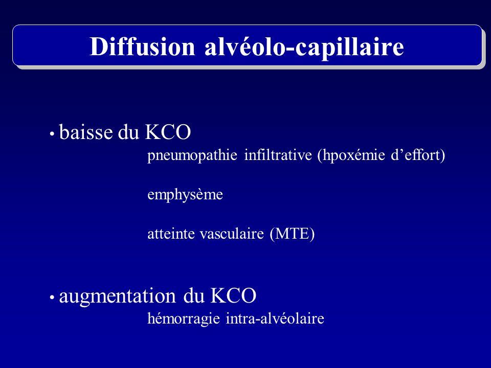 Diffusion alvéolo-capillaire