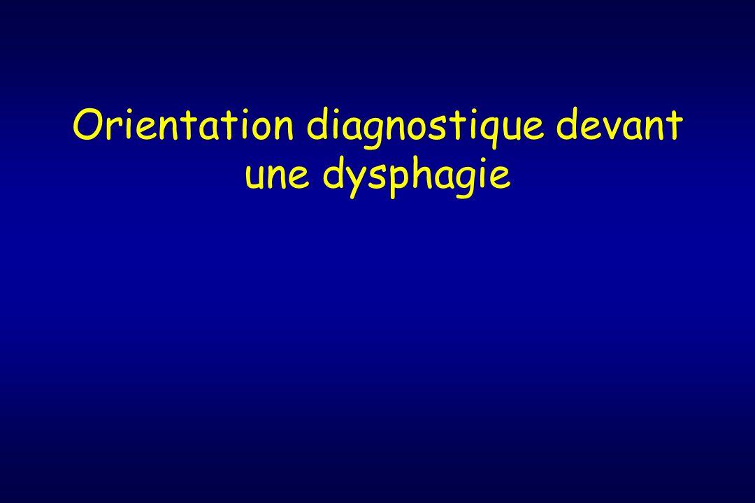 Orientation diagnostique devant une dysphagie