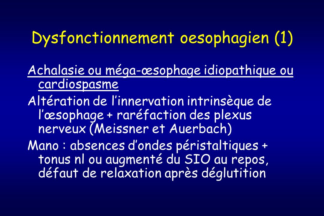 Dysfonctionnement oesophagien (1)