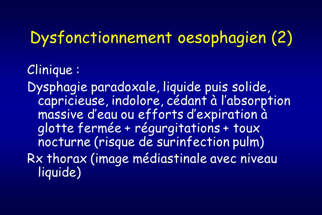 Dysfonctionnement oesophagien (2)