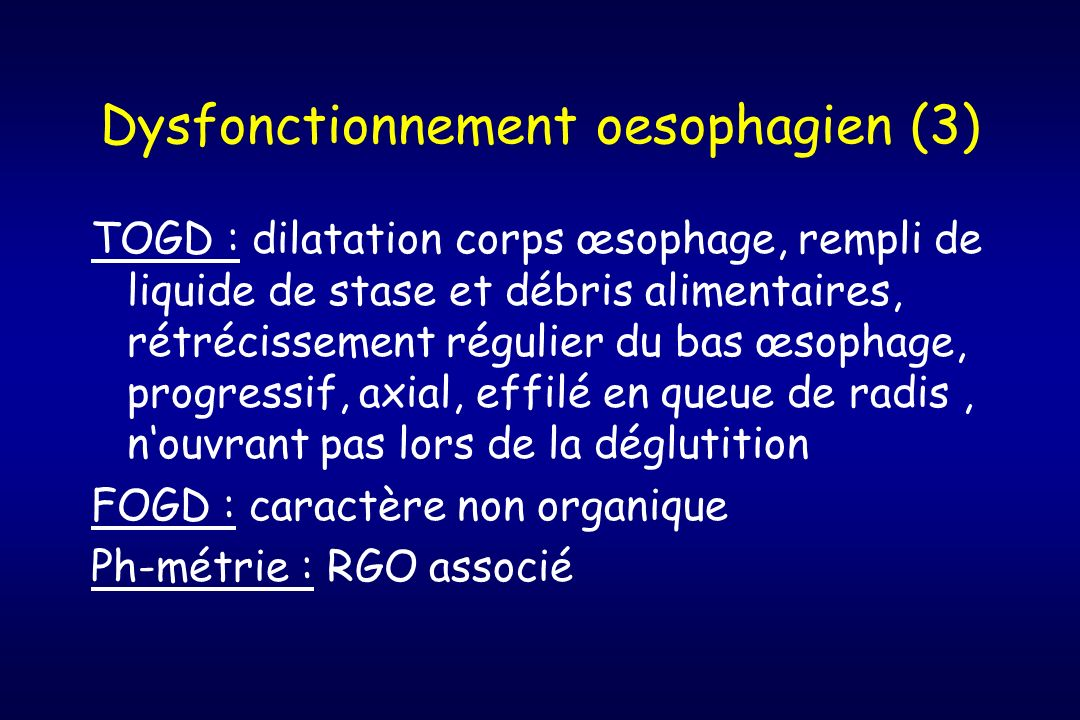Dysfonctionnement oesophagien (3)