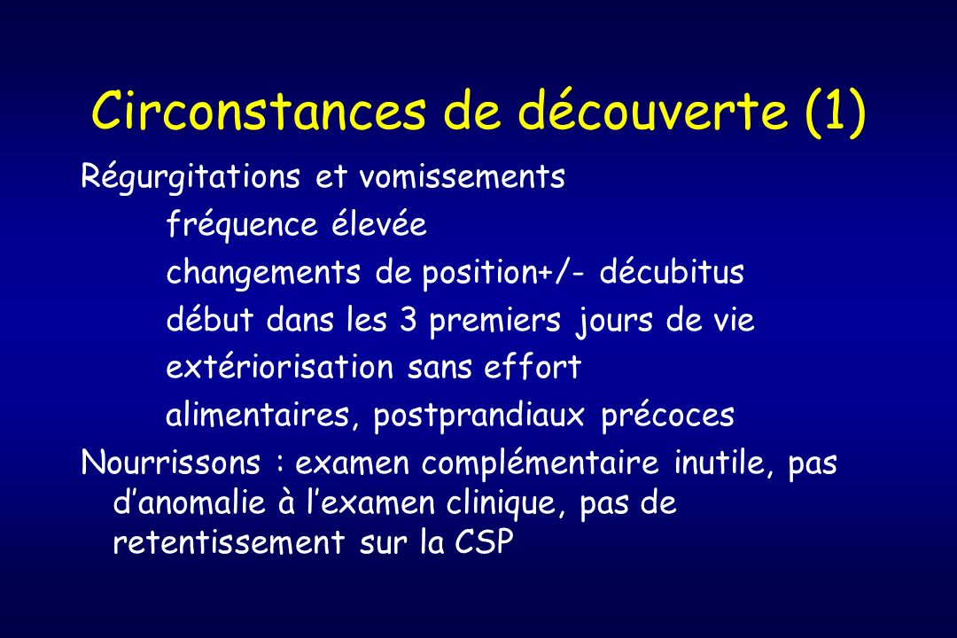 Circonstances de découverte (1)