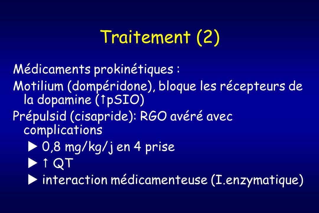 Traitement (2) Médicaments prokinétiques :