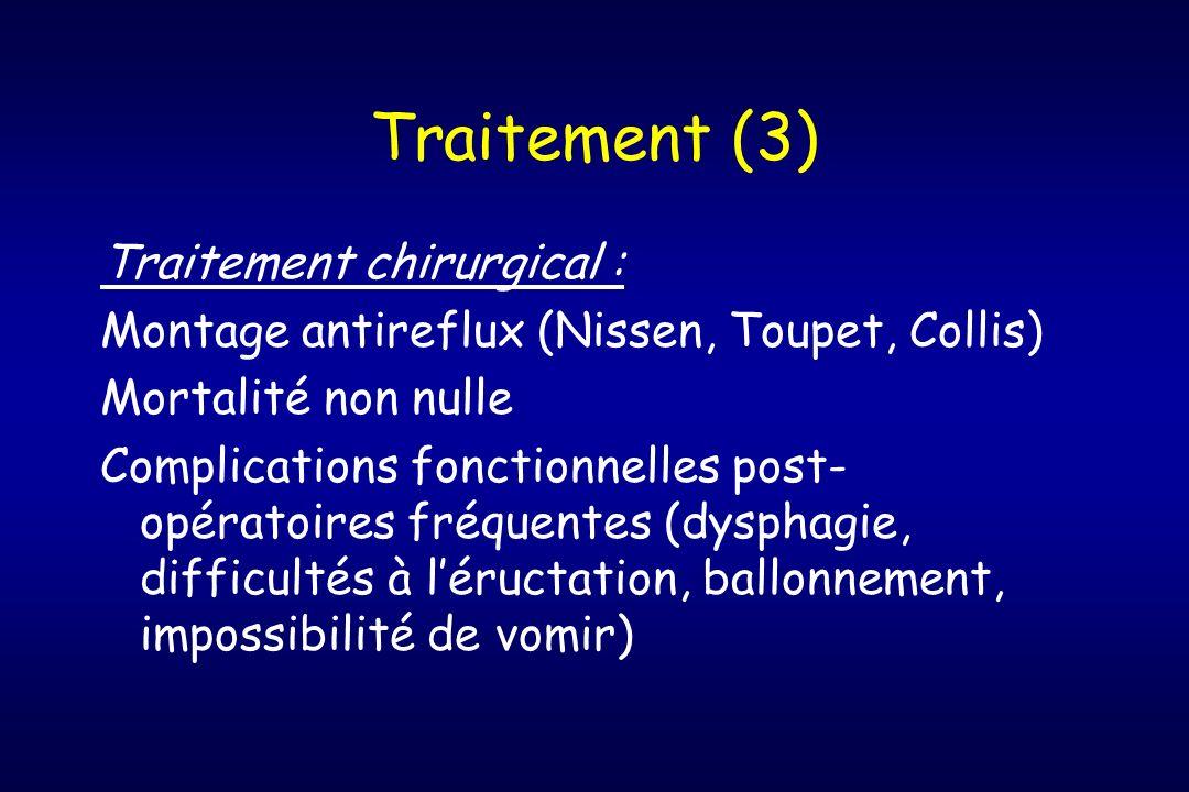 Traitement (3) Traitement chirurgical :