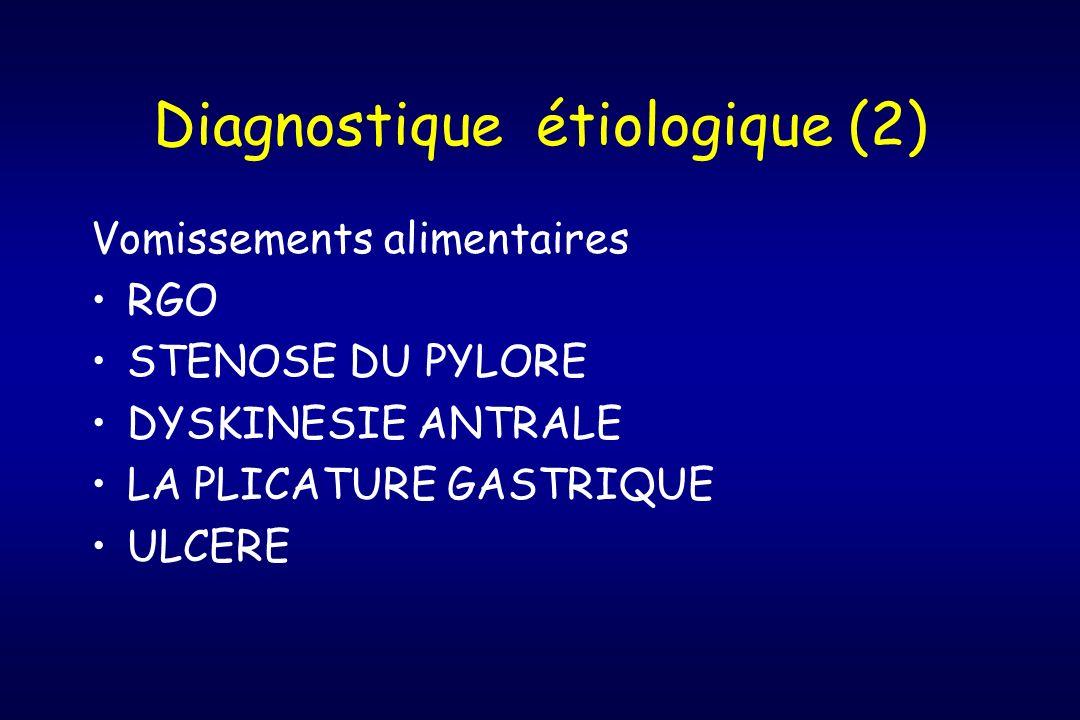 Diagnostique étiologique (2)