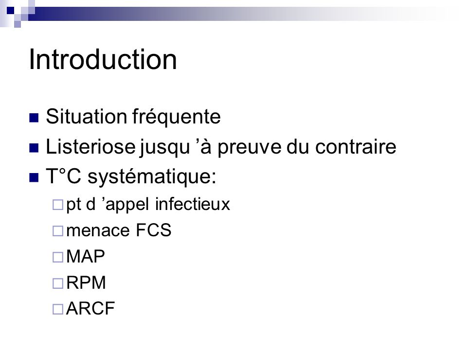 Introduction Situation fréquente