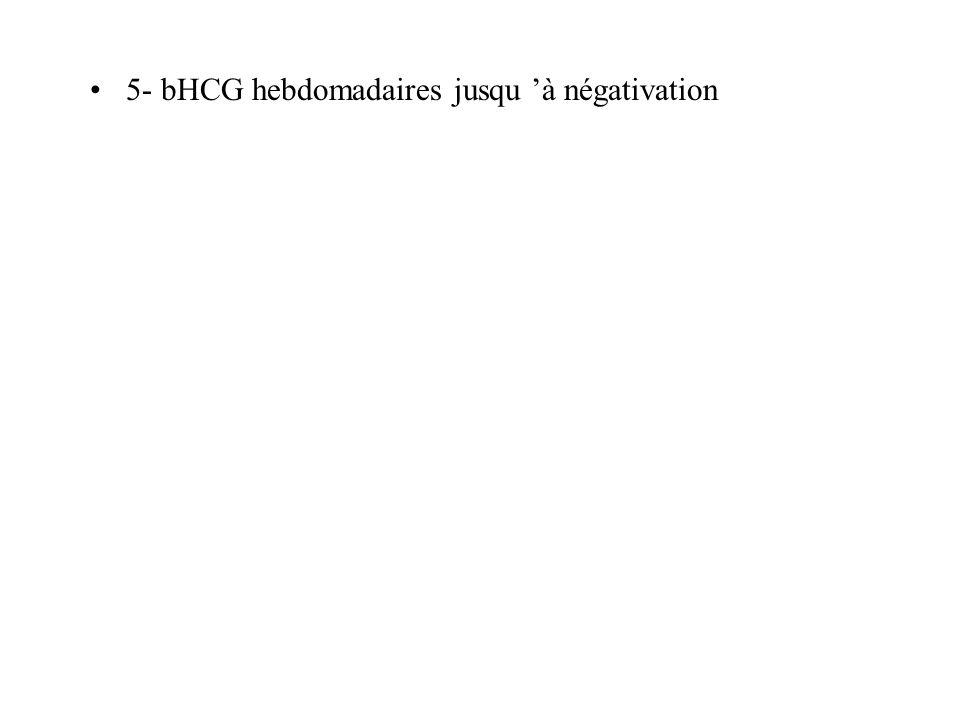 5- bHCG hebdomadaires jusqu 'à négativation
