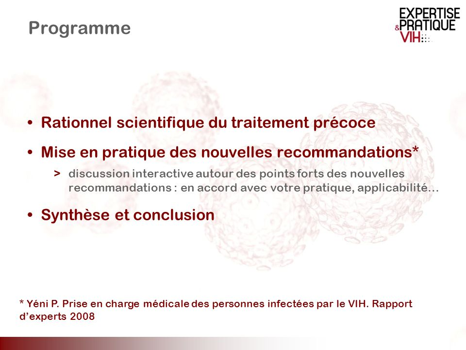 Programme Rationnel scientifique du traitement précoce