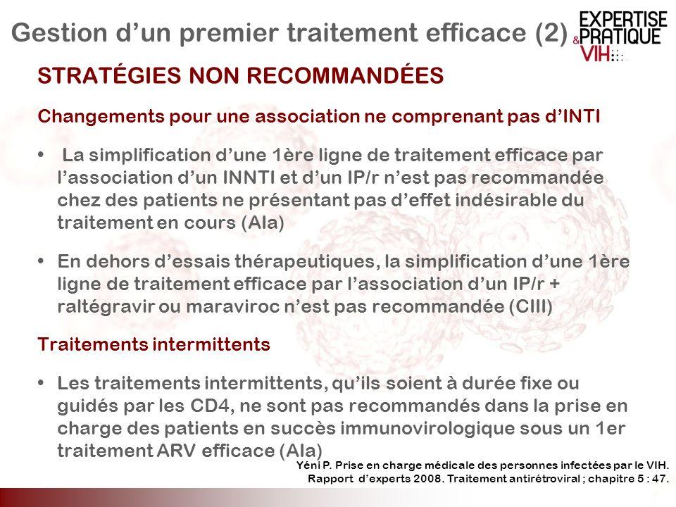 Gestion d'un premier traitement efficace (2)