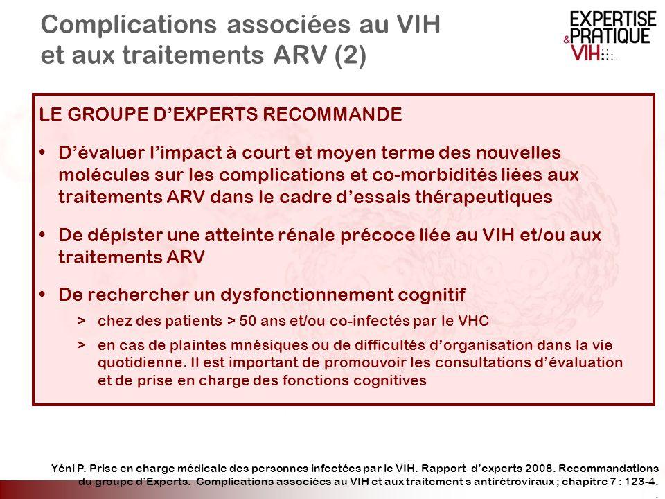 Complications associées au VIH et aux traitements ARV (2)