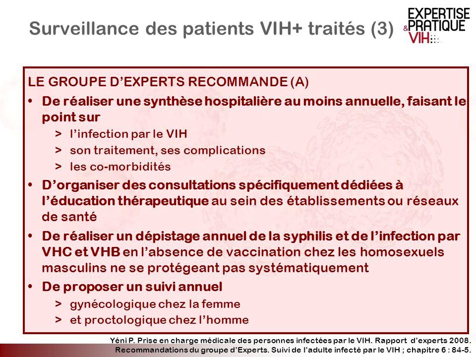 Surveillance des patients VIH+ traités (3)