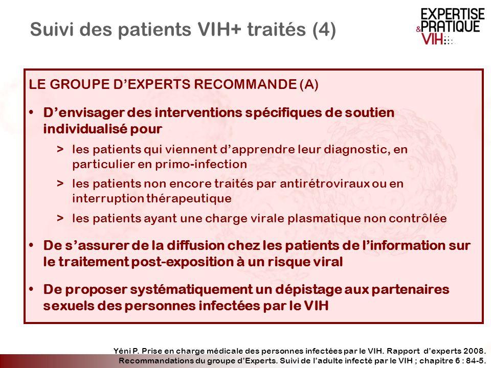 Suivi des patients VIH+ traités (4)