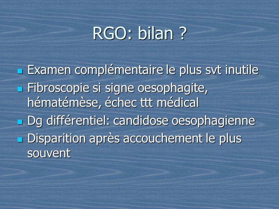 RGO: bilan Examen complémentaire le plus svt inutile