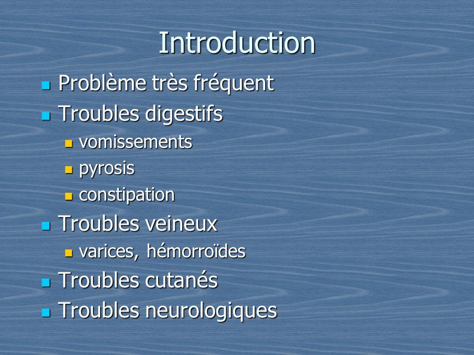 Introduction Problème très fréquent Troubles digestifs