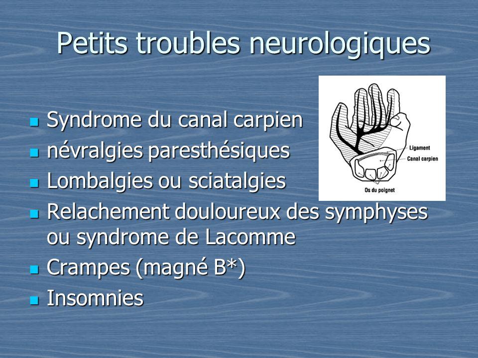 Petits troubles neurologiques