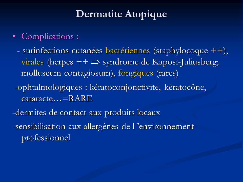 Dermatite Atopique Complications :
