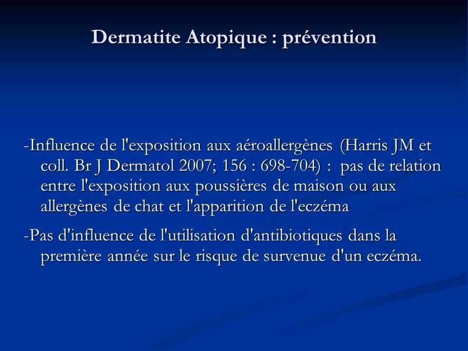Dermatite Atopique : prévention