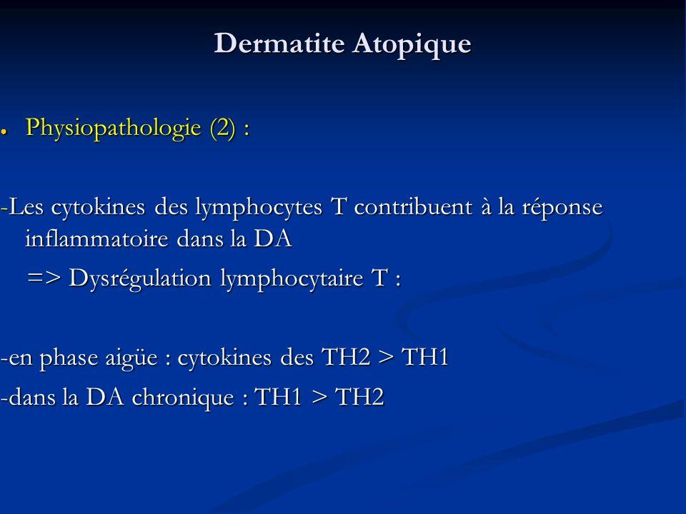 Dermatite Atopique Physiopathologie (2) :