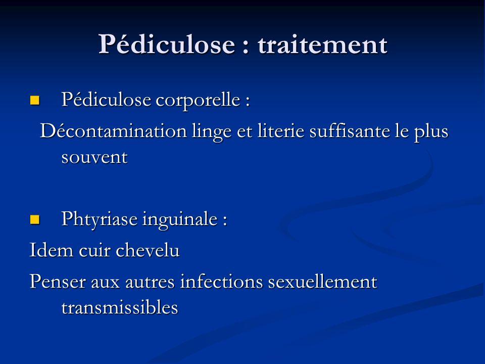 Pédiculose : traitement