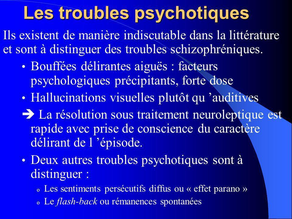 Les troubles psychotiques