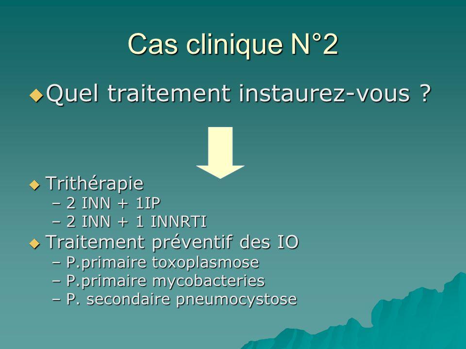 Cas clinique N°2 Quel traitement instaurez-vous Trithérapie