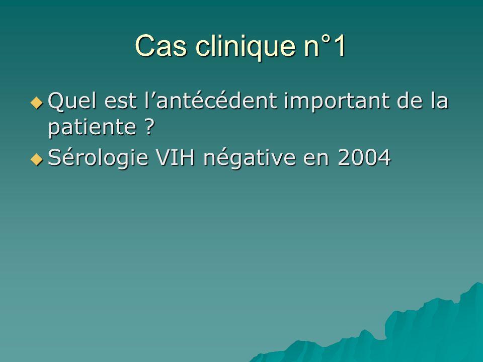 Cas clinique n°1 Quel est l'antécédent important de la patiente
