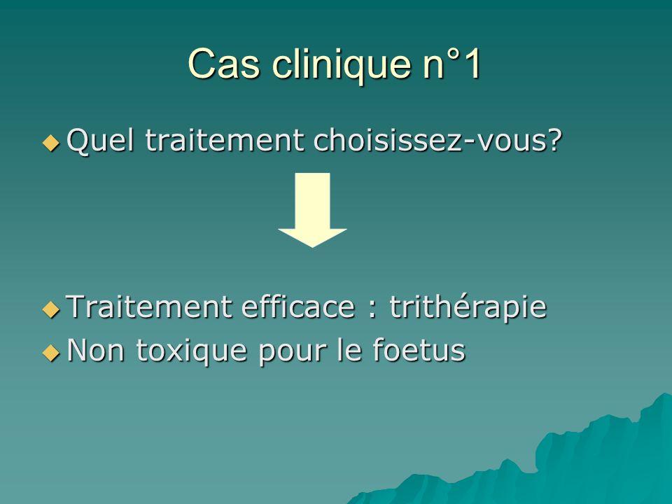 Cas clinique n°1 Quel traitement choisissez-vous