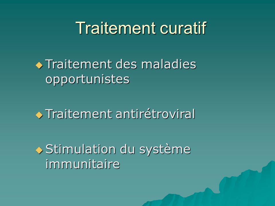 Traitement curatif Traitement des maladies opportunistes