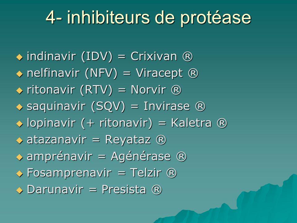 4- inhibiteurs de protéase