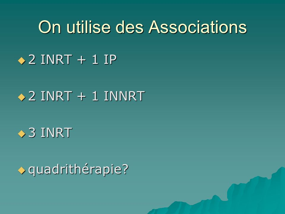 On utilise des Associations