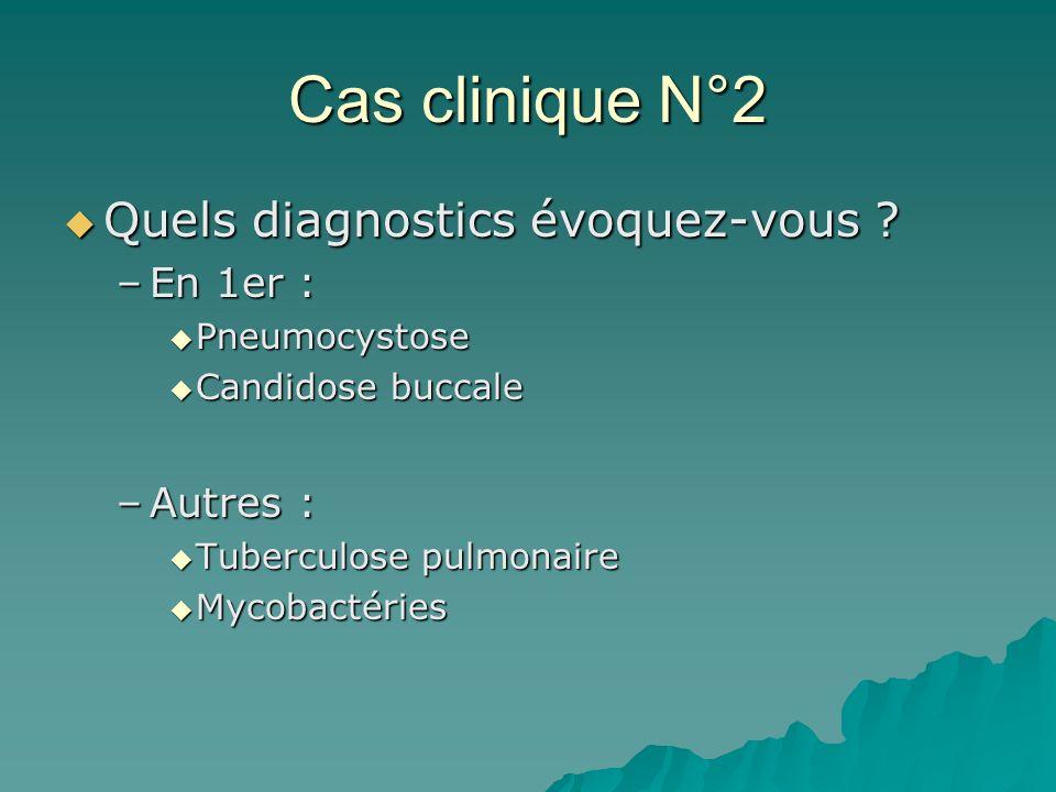 Cas clinique N°2 Quels diagnostics évoquez-vous En 1er : Autres :
