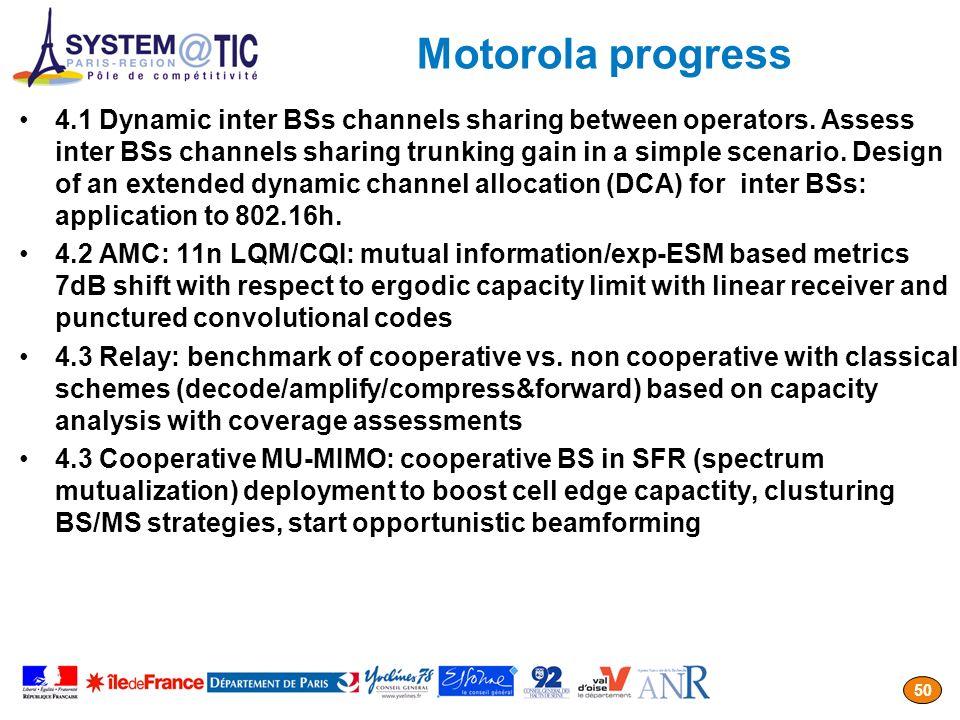 Motorola progress