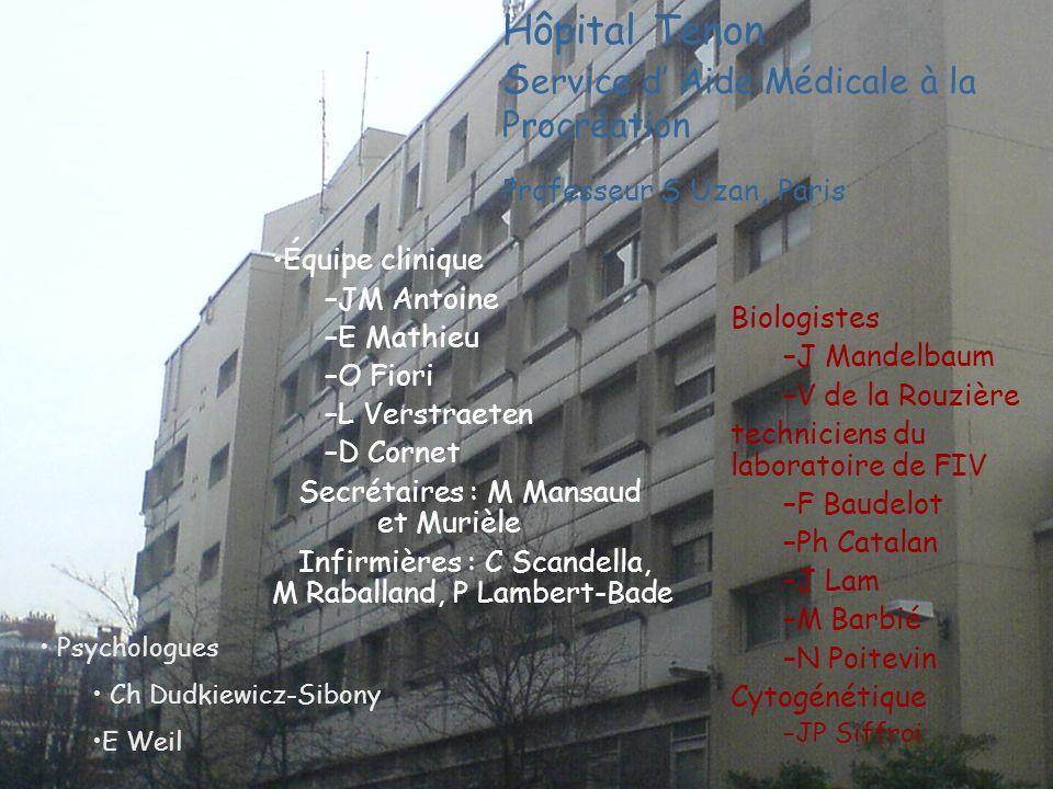 Hôpital Tenon Service d' Aide Médicale à la Procréation