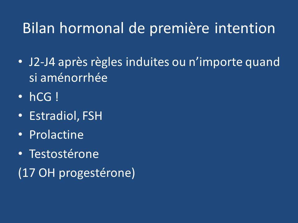 Bilan hormonal de première intention