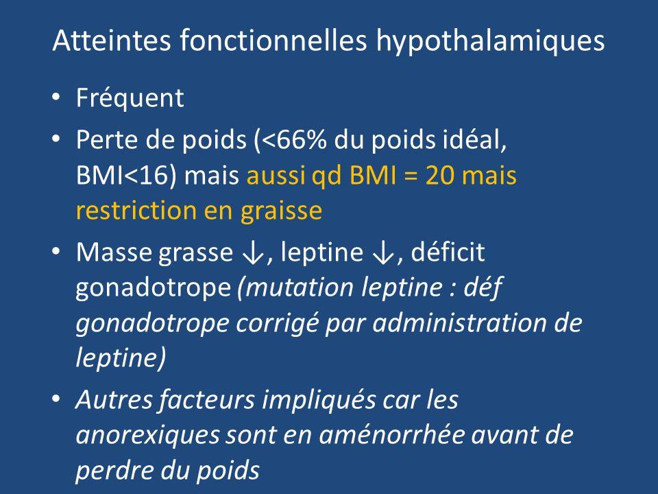 Atteintes fonctionnelles hypothalamiques
