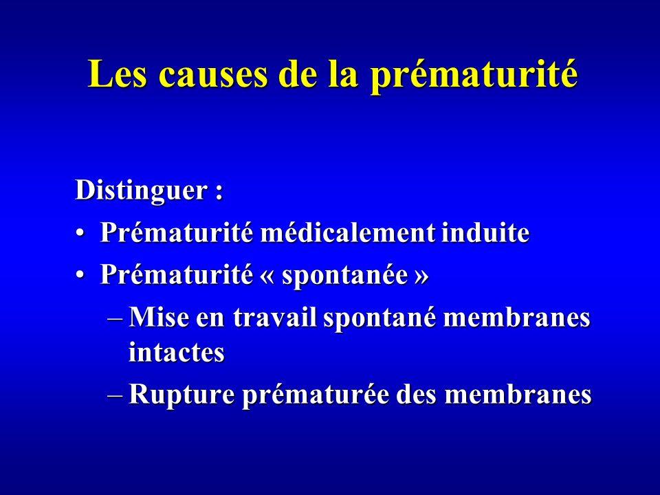 Les causes de la prématurité
